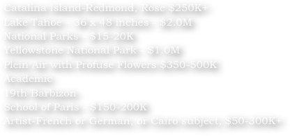 Catalina Island-Redmond, Rose $250K+